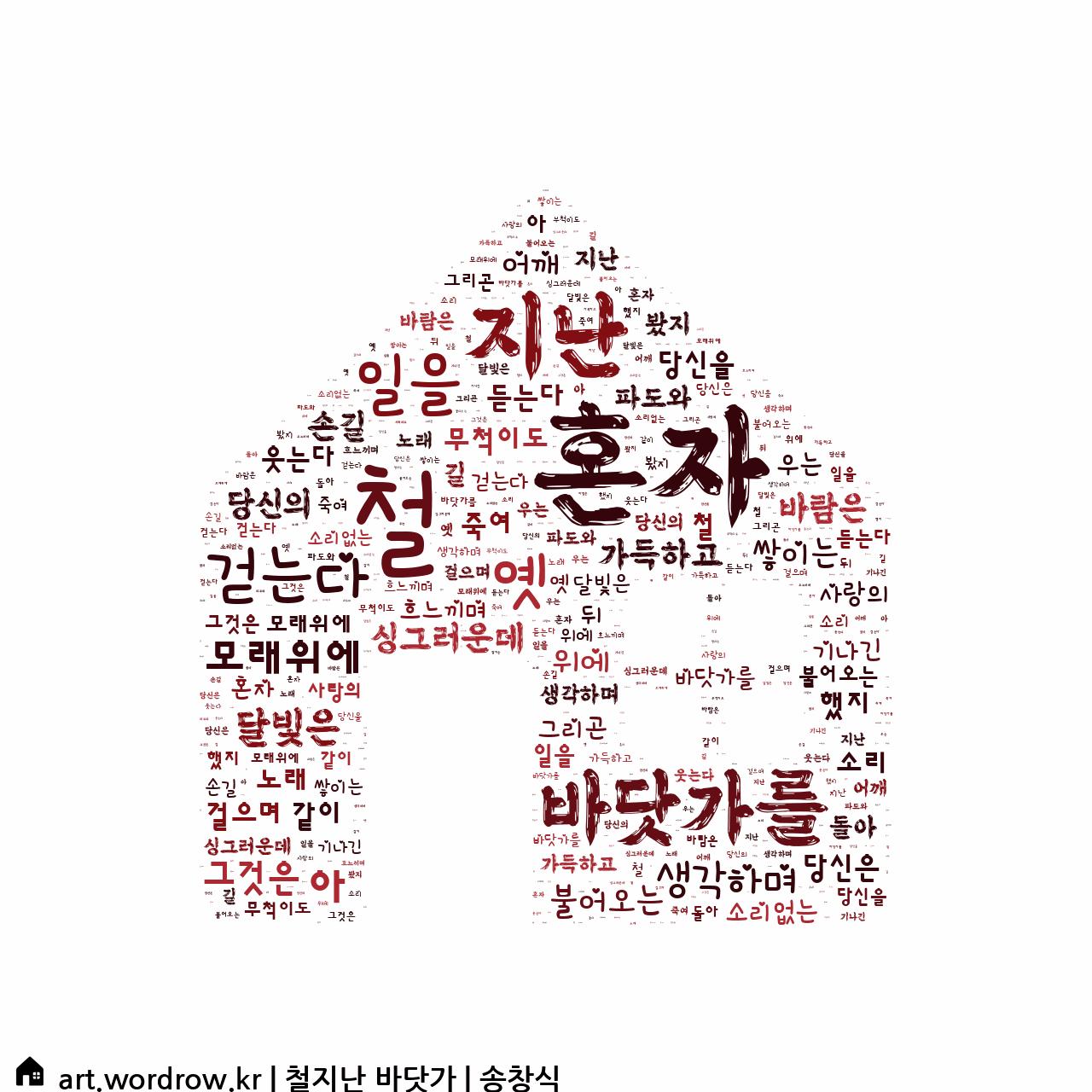 워드 클라우드: 철지난 바닷가 [송창식]-62